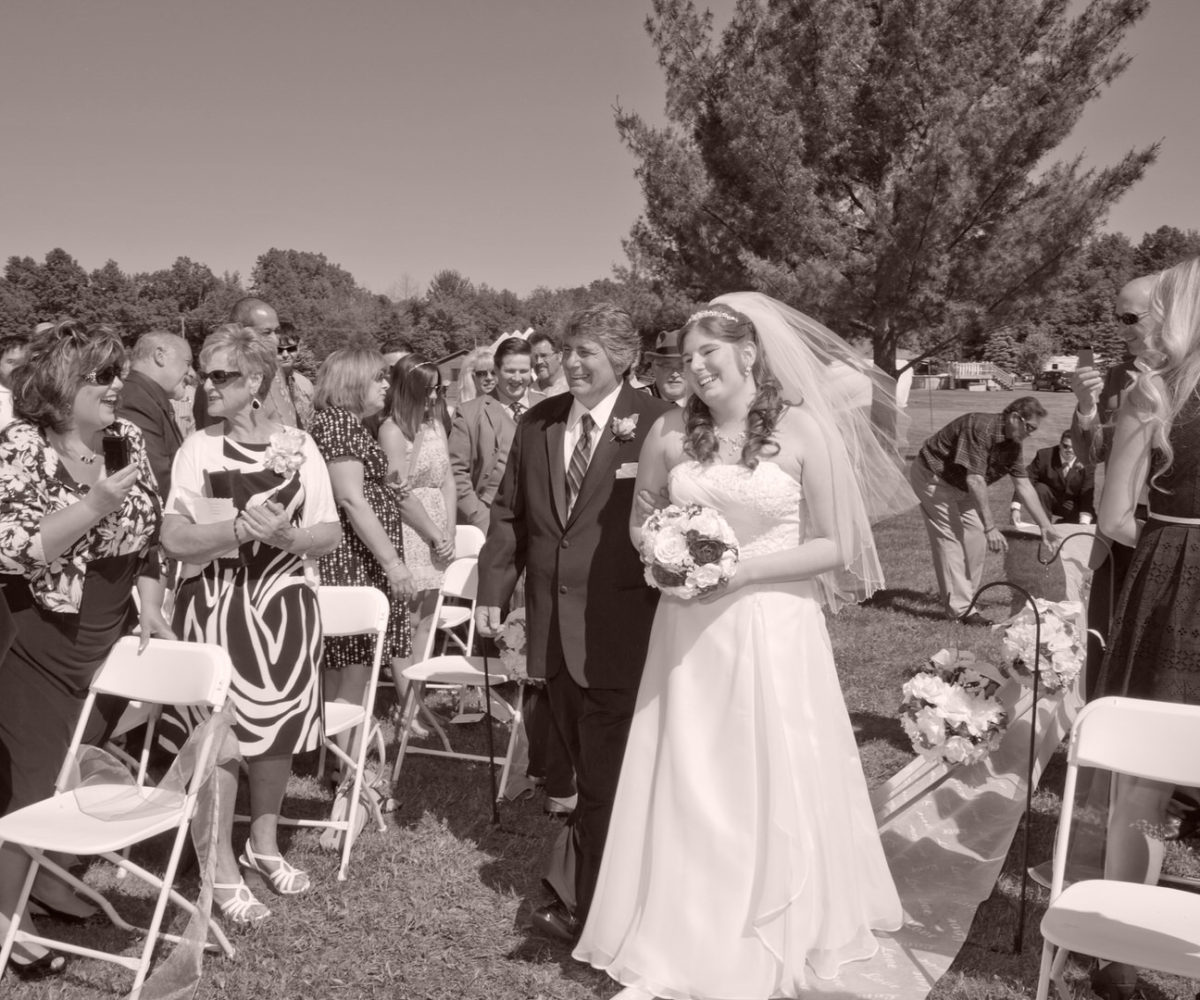 Andrea & Justin's Backyard Wedding